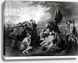 Постер Вест Бенджамин The Death of General Wolfe 1759, engraved by Augustin Legrand