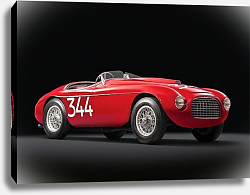 Постер Ferrari 166 MM Touring Barchetta '1948–50 дизайн Touring