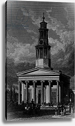 Постер Шепард Томас (последователи) St. Pancrass Church, West Front, engraved by James Tingle 1827
