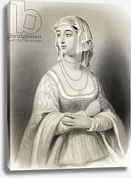 Постер Стаал Пьер (грав) Margret of Anjou illustration from 'World Noted Women' by Mary Cowden Clarke, 1858