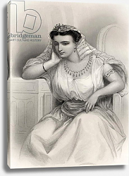 Постер Стаал Пьер (грав) Cleopatra VII illustration from 'World Noted Women' by Mary Cowden Clarke, 1858