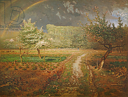 Постер Милле, Жан-Франсуа Spring at Barbizon, 1868-73