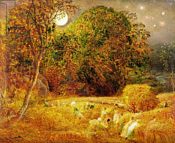 Постер Палмер Самуэль The Harvest Moon, 1833