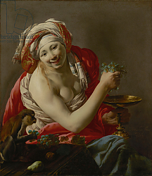 Постер Брюген Хендрик Bacchante with an Ape, 1627
