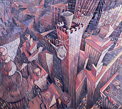 Постер Джонсон Уол (совр) Downtown Manhattan Hailstorm, 1995