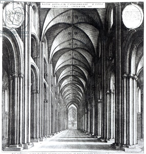 Interior of the nave of St. Paul's, 1658