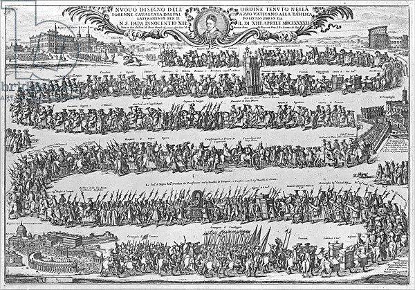 The Procession of Pope Innocent XII from the Vatican, 1692