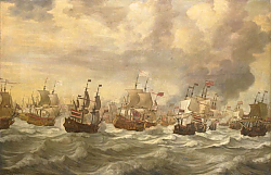 Постер Велде Виллем Старший Episode from the Four Day Battle at Sea