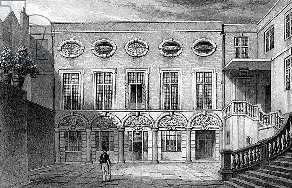 Brewers' Hall, Addle Street, print made by W. Radclyffe, 1831