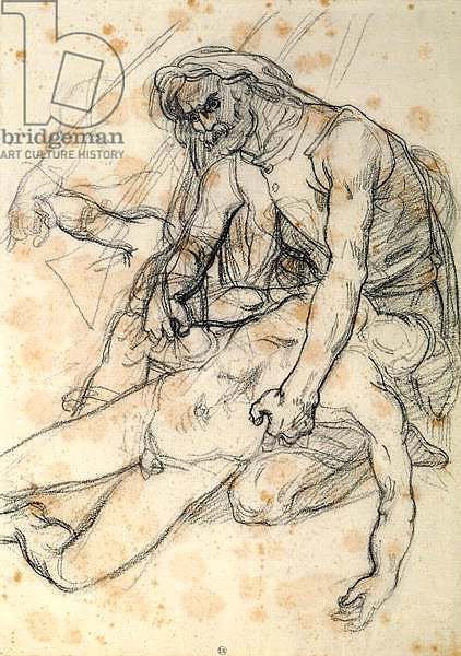 A Father Holding the Body of his Son, study for The Raft of the Medusa