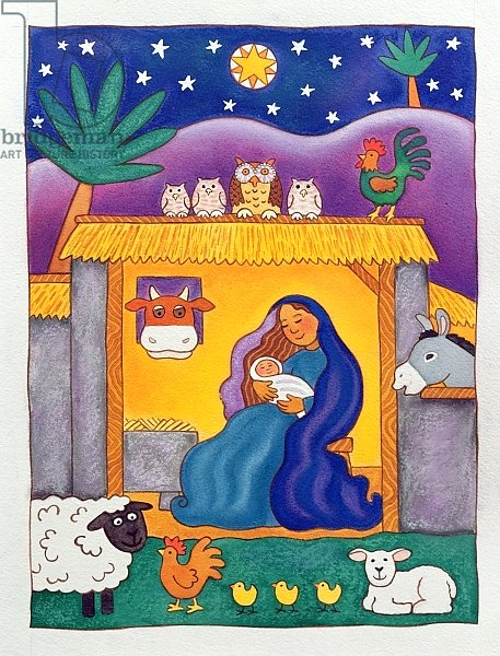 A Farmyard Nativity, 1996