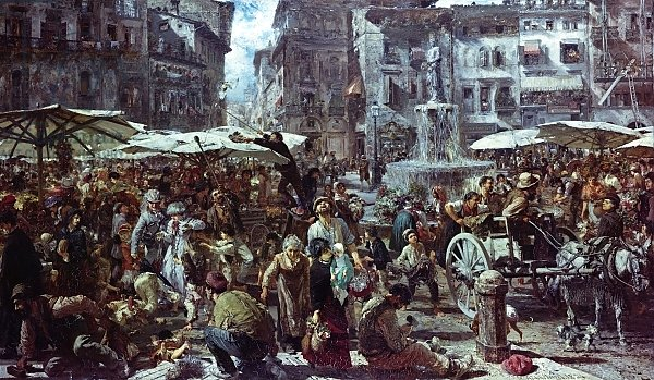 The Market of Verona, 1884 2