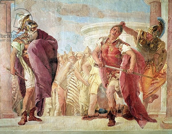 Minerva Preventing Achilles from Killing Agamemnon, from 'The Iliad' by Homer, 1757