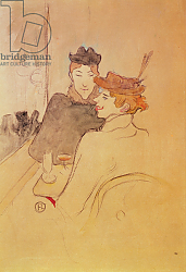 Постер Тулуз-Лотрек Анри (Henri Toulouse-Lautrec) Two women sitting in a cafe
