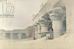 Постер Робертс Давид Temple of Horus, Edfu, from 'Egypt and Nubia', engraved by Louis Haghe published in London, 1838