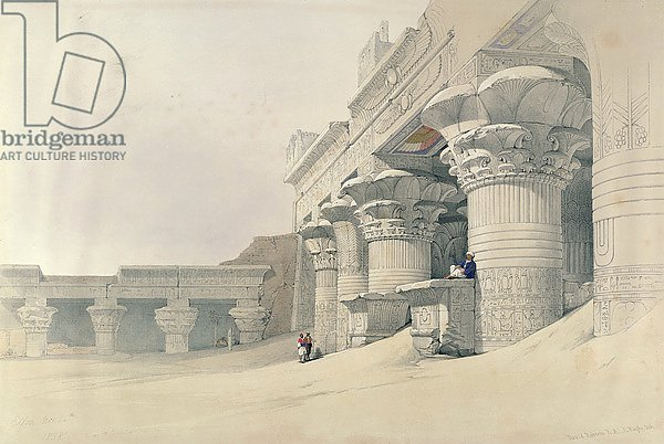 Temple of Horus, Edfu, from 'Egypt and Nubia', engraved by Louis Haghe published in London, 1838