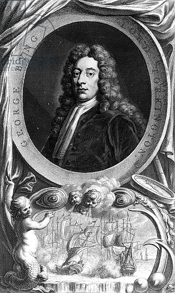George Byng, 1st Viscount Torrington, engraved by Jacobus Houbraken, 1747