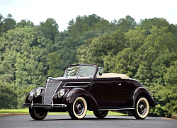 Постер Ford V8 Deluxe Convertible '1937