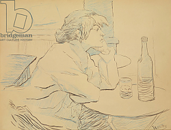 Постер Тулуз-Лотрек Анри (Henri Toulouse-Lautrec) Woman Drinker, or The Hangover, 1889