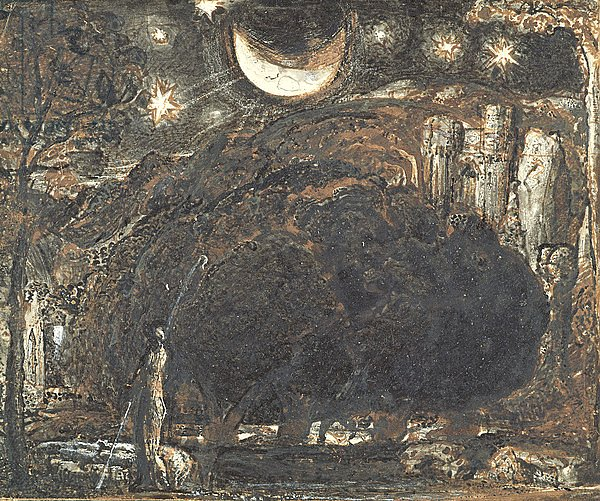 A Shepherd and his Flock under the Moon and Stars, c.1827