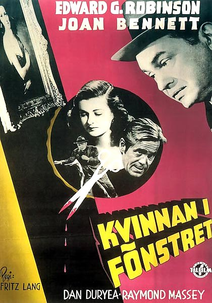 Film Noir Poster - Woman In The Window, The