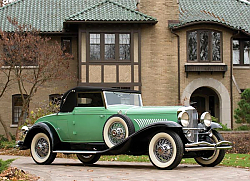 Постер Duesenberg J 417 Convertible Coupe by Fleetwood '1929