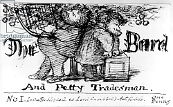 Постер Розетти Данте The Bard and Petty Tradesman, 1868