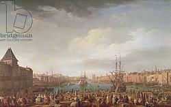 Постер Верне Клод Morning View of the Inner Port of Marseille and the Pavilion of the Horloge du Parc, 1754