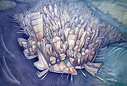 Постер Джонсон Уол (совр) Manhattan from Above, 1994