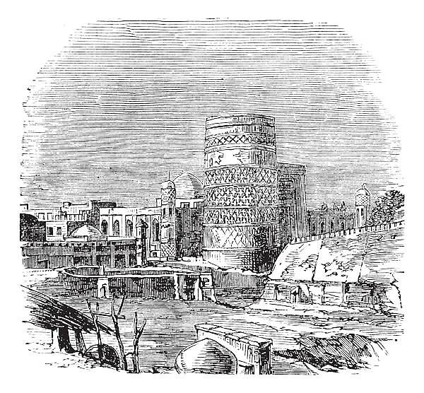 Mosque of the palace of Khiva vintage engraving