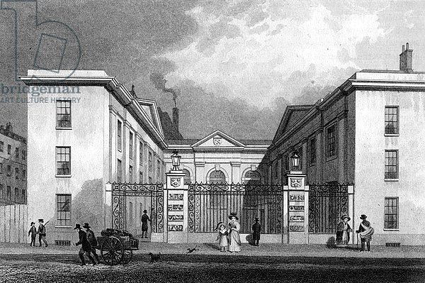 Vintners' Hall, Upper Thames Street, print made by R. Acon, c.1829-31