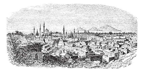 Konieh or Koniah city anciently known as Iconium vintage engraving