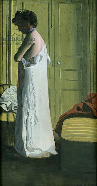 Nude in an Interior, Woman Removing her Shirt, 1900