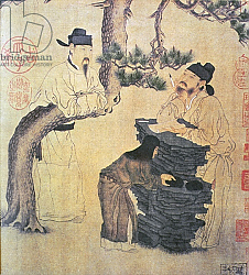 Постер Школа: Китайская An Ancient Chinese Poet, facsimile of original Chinese scroll