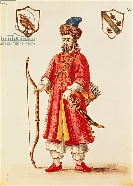 Marco Polo dressed in Tartar costume