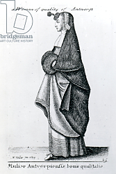 Постер Холлар Вецеслаус (грав) Woman of Quality from Antwerp, 1643