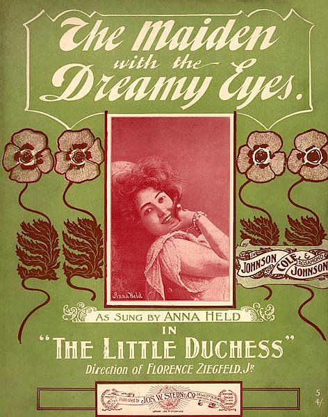 Ziegfeld Sheet Music - Ziegfeld Production Of 1901 (Maiden With The Dreamy Eyes, The)