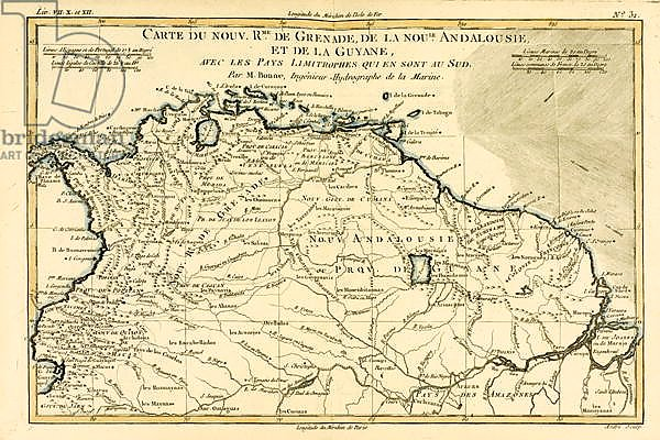 The New Kingdoms of Grenada, New Andalucia and Guyana, 1780