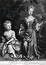 Постер Кнеллер Годфри, Сэр The Lord Churchill's two Daughters, mezzotint by John Smith, c.1690