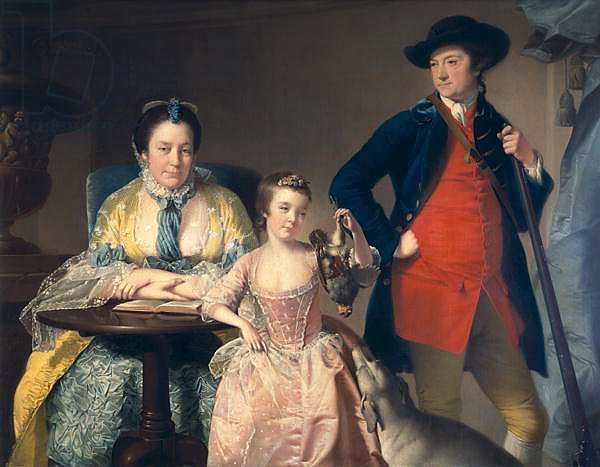 James and Mary Shuttleworth with one of their Daughters, 1764