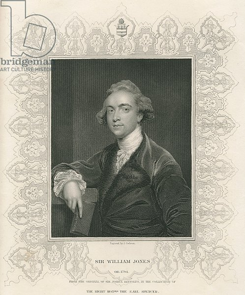 Sir William Jones from 'Gallery of Portraits', published in 1833