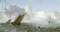 Постер Порселлис Ян Shipping Offshore in a breeze, 17th century
