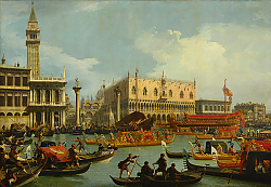 Постер Каналетто (Giovanni Antonio Canal) The Betrothal of the Venetian Doge to the Adriatic Sea, c.1739-30