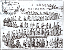 Постер Холлар Вецеслаус (грав) Grand Procession of the Sovereign and the Knights of the Garter at Windsor, 1672