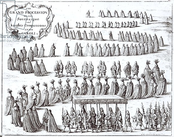 Grand Procession of the Sovereign and the Knights of the Garter at Windsor, 1672