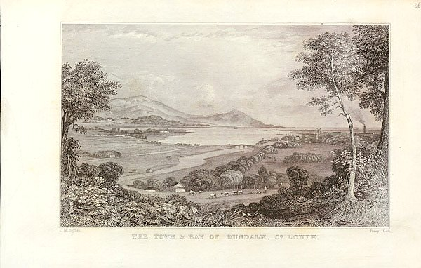 TOWN AND BAY OF DUNDALK,Louth County,Views of Ireland