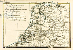 Постер Бонне Чарльз (карты) Holland Including the Seven United Provinces of the Low Countries, 1780