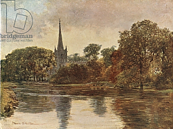 Постер Уокер Франсис Trinity Church, Stratford on Avon