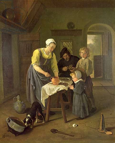 Peasant Family at Meal time, c.1665