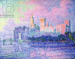 Постер Синьяк Поль (Paul Signac) The Chateau des Papes, Avignon, 1900